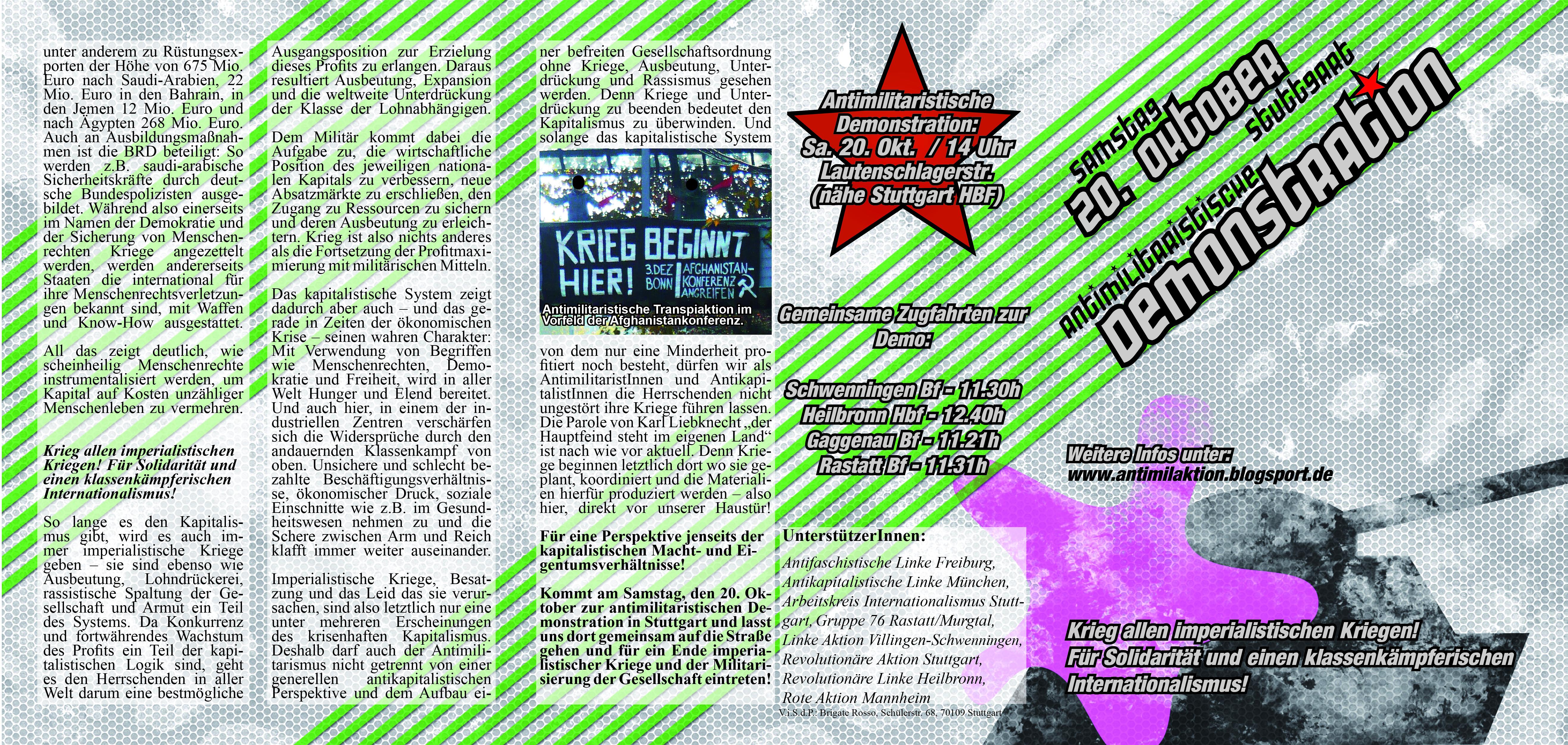 Flyer zur Demo am 20.10 Au�enseite
